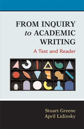 From Inquiry to Academic Writing A Text and Reader N/A edition cover