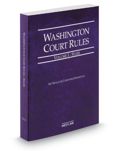 WASHINGTON COURT RULES-2014 ST N/A 9780314655653 Front Cover