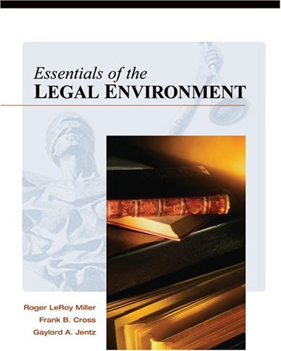 Essentials of the Legal Environment   2005 edition cover