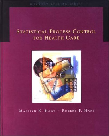 Statistical Process Control for Health Care   2002 9780534378653 Front Cover