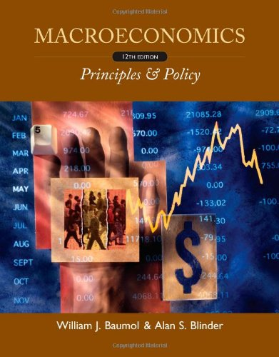 Macroeconomics Principles and Policy 12th 2012 9780538453653 Front Cover