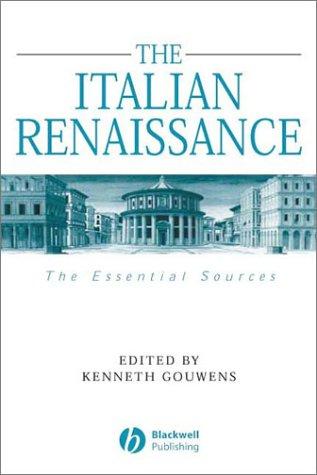 Italian Renaissance The Essential Sources  2003 edition cover