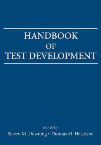 Handbook of Test Development   2006 edition cover