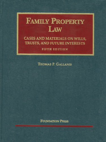 Family Property Law Cases and Materials, 5th  5th 2011 (Revised) edition cover