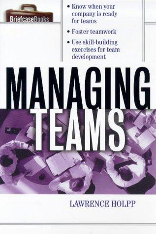 Managing Teams   1999 edition cover