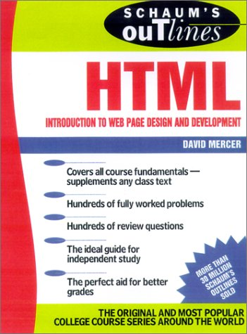 Schaum's Outline of HTML   2002 9780071373654 Front Cover