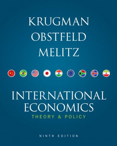 International Economics  9th 2012 edition cover