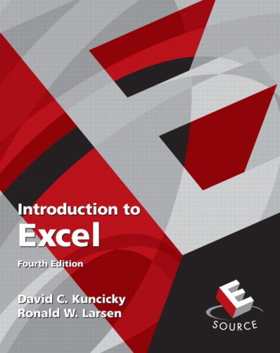 Introduction to Excel  4th 2010 edition cover