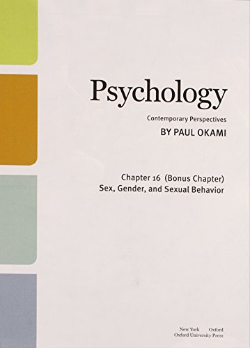 Psychology: Contemporary Perspectives (Bonus Chapter Only)  2013 edition cover