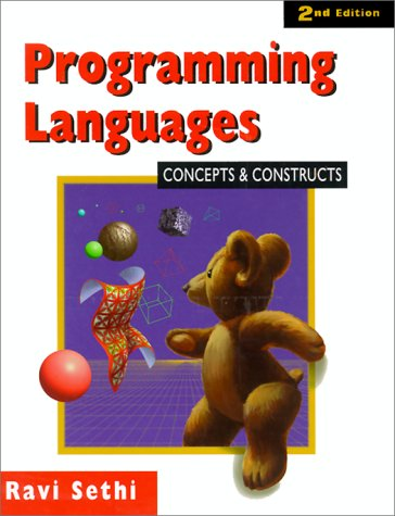 Programming Languages Concepts and Constructs 2nd 1996 edition cover