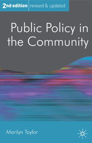 Public Policy in the Community  2nd 2011 (Revised) edition cover