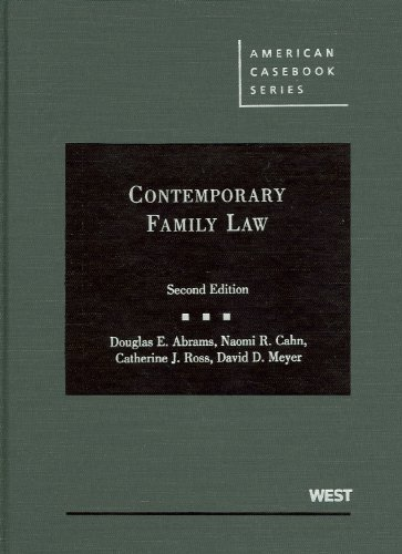 Contemporary Family Law  2nd 2009 (Revised) edition cover
