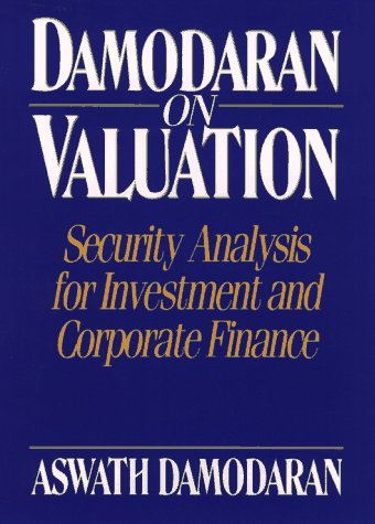 Damodaran on Valuation Security Analysis for Investment and Corporate Finance 1st 1994 edition cover