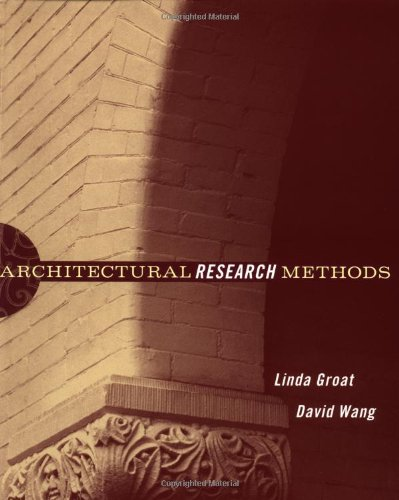 Architectural Research Methods   2001 9780471333654 Front Cover