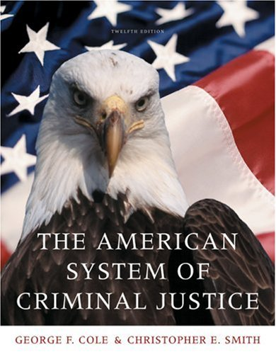American System of Criminal Justice  12th 2010 edition cover