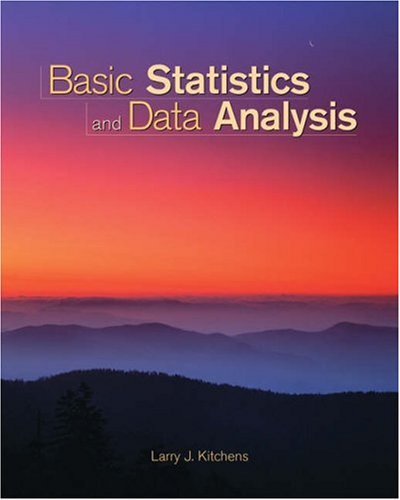Basic Statistics and Data Analysis   2003 9780534384654 Front Cover