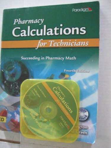 Pharmacy Calculations for Technicians Succeeding in Pharmacy 4th edition cover