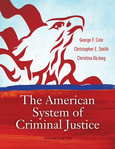 American System of Criminal Justice  13th 2013 edition cover