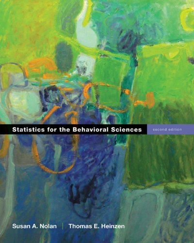 Statistics for the Behavioral Sciences  2nd 2012 (Revised) edition cover