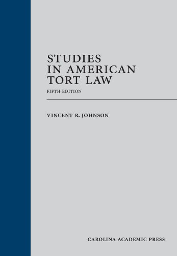 Studies in American Tort Law:   2013 edition cover