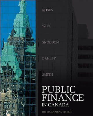 PUBLIC FINANCE IN CANADA >CANA 3rd 2009 edition cover