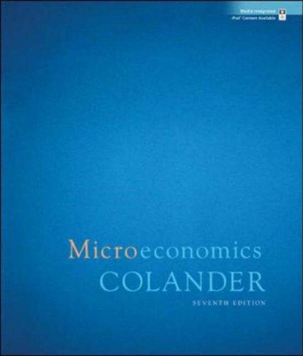 Microeconomics  7th 2008 edition cover