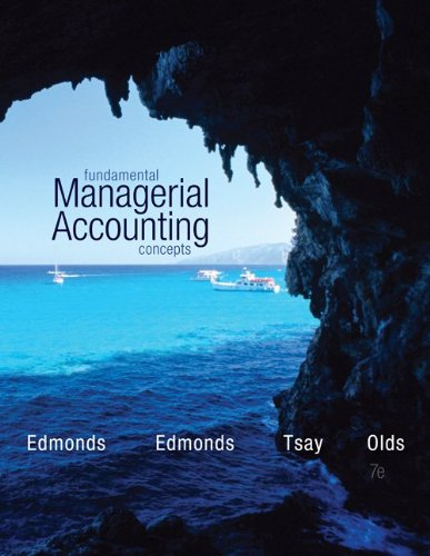 Fundamental Managerial Accounting Concepts  7th 2014 9780078025655 Front Cover