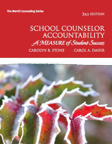 School Counselor Accountability A MEASURE of Student Success 3rd 2011 edition cover