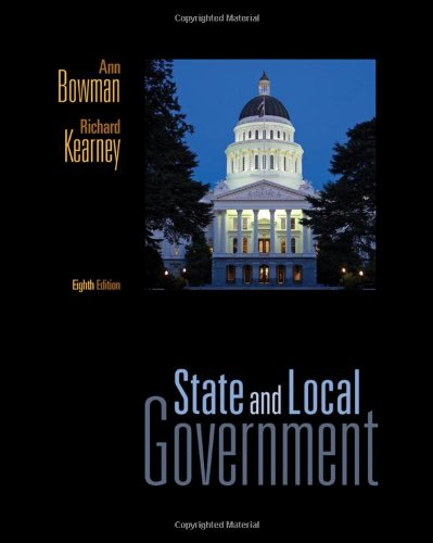 State and Local Government  8th 2011 9780495802655 Front Cover