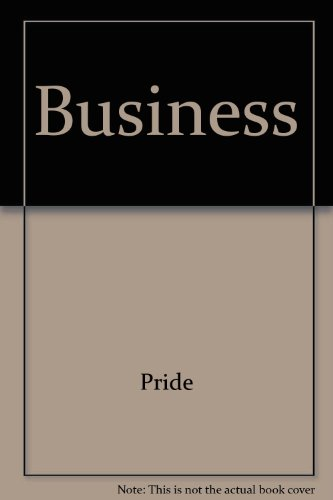 Pride Business Looseleaf with Your Guide to A Passkey for Package Ninth Edition 9th 2008 9780618889655 Front Cover