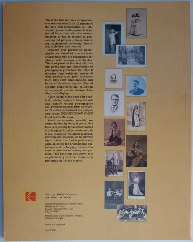 Care and Identification of Nineteenth Century Photographic Prints N/A edition cover