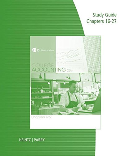 College Accounting: Chapters 1-27  2016 9781305667655 Front Cover