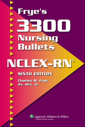 Frye's 3300 Nursing Bullets for NCLEX-RN�  6th 2007 (Revised) edition cover