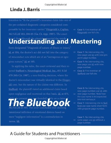 Understanding and Mastering the Bluebook A Guide for Students and Practitioners  2007 edition cover