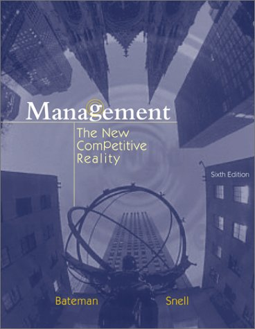 Management The New Competitive Reality 6th 2004 9780072538656 Front Cover