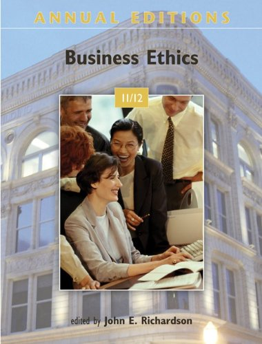 Annual Editions: Business Ethics 11/12  23rd 2012 edition cover