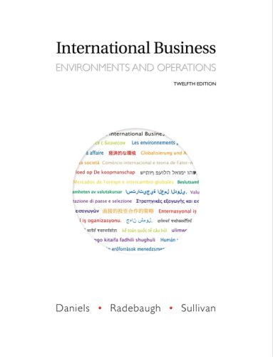 International Business Environments and Operations 12th 2009 edition cover