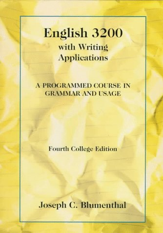 English 3200 with Writing Applications A Programmed Course in Grammar and Usage 4th 1994 edition cover