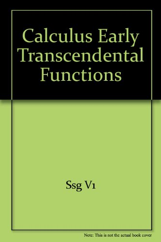 Calculus Early Transcendental Functions Plus Student Study Guide Volumes One and Two Plus Eduspace 4th 2007 9780618808656 Front Cover