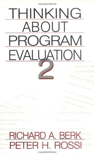Thinking about Program Evaluation  2nd 1998 (Revised) edition cover