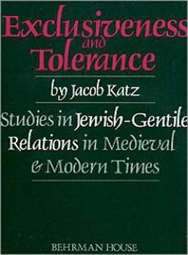Exclusiveness and Tolerance 1st edition cover