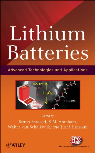 Lithium Batteries Advanced Technologies and Applications  2013 edition cover