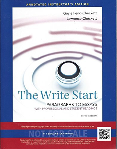 WRITE START:PARA.TO ESS.,W/RDGS.>INSTR< N/A 9781285177656 Front Cover