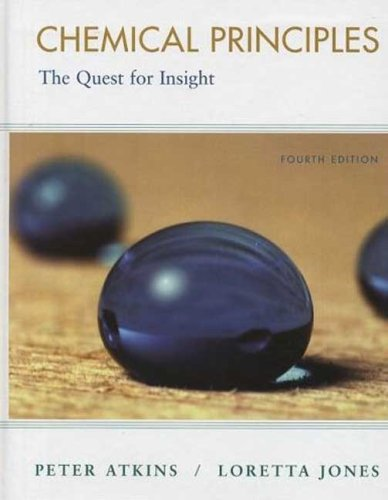 Chemical Principles The Queset for Insight 4th 2008 edition cover