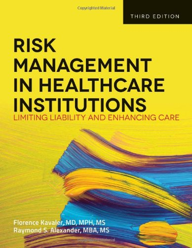 Risk Management in Health Care Institutions  3rd 2014 edition cover