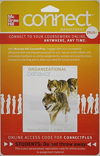 Organizational Behavior Connect Plus Access Card:   2012 edition cover