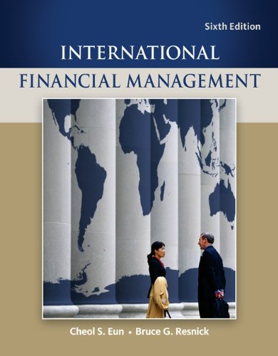 International Financial Management  6th 2012 edition cover