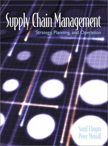 Supply Chain Management Strategy, Planning and Operation  2001 edition cover