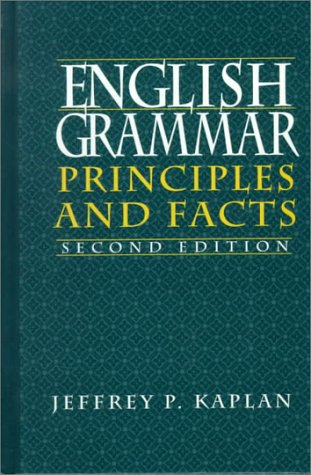 English Grammar Principles and Facts 2nd 1995 edition cover
