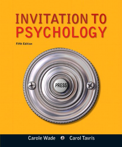 Invitation to Psychology  5th 2012 edition cover